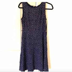 Tommy Hilfiger Navy Polka Dot Dress 10